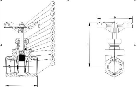 内螺纹闸阀图片