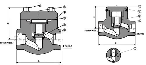 焊接止回阀