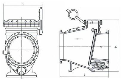 hh44x止回阀结构图