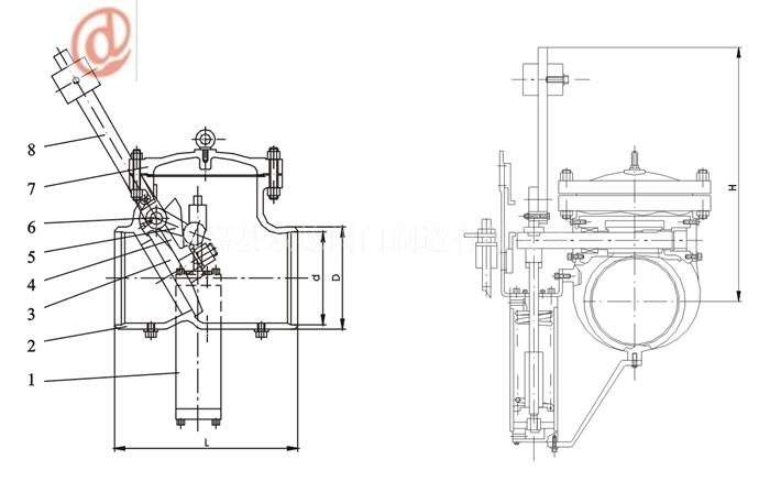 h664h汽轮机专用快关抽汽止回阀图片